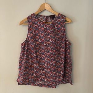 J. Crew sleeveless flower blouse size 14